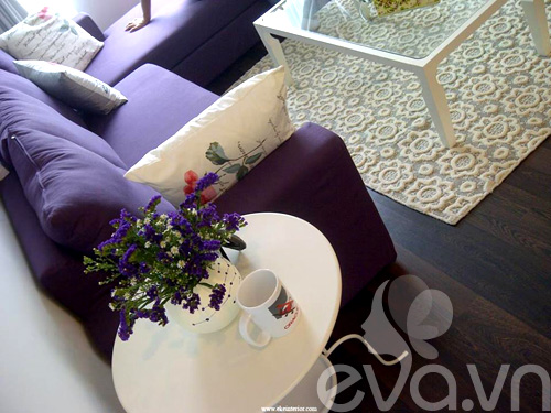 Ngắm căn hộ 80m² màu tím kiêu sa 3
