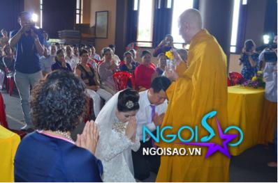 Lễ cưới theo nghi thức Phật giáo của ca sỹ Mỹ Dung 7