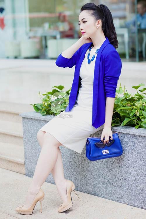 10 cách diện đẹp với blazer xanh 7