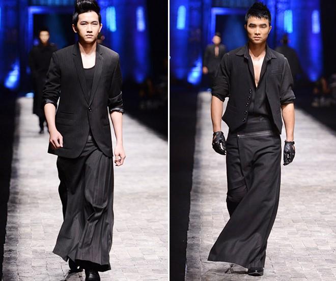 Khi người mẫu nam chuộng áo ren mỏng, váy xòe 1