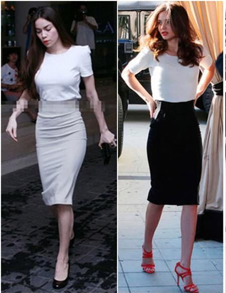 Hà Hồ mặc váy bút chì sexy như Miranda Kerr 14