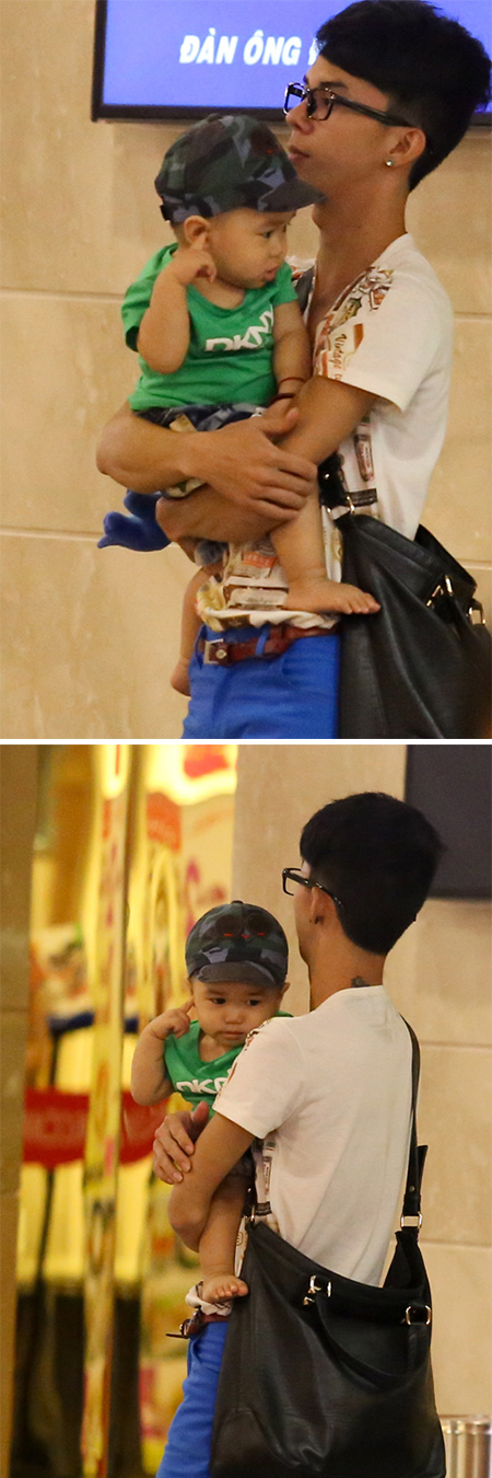 Lâm Chi Khanh vất vả trông con khi đi mua sắm 2