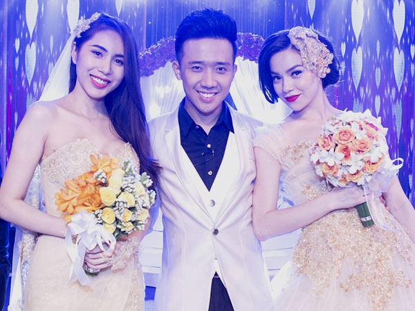 Chú rể Trấn Thành hạnh phúc bên cô dâu gợi cảm Hồ Ngọc Hà 4
