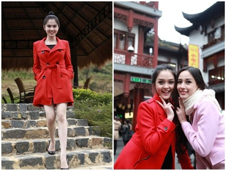 Mỹ nhân Việt đua nhau diện mốt áo măng tô sắc màu 21