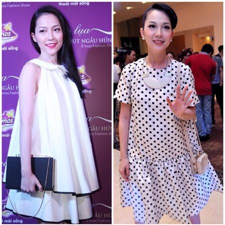 Sao Việt quyến rũ với váy suông 6
