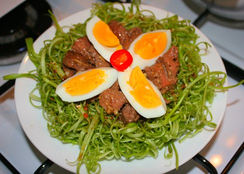 3 món rau chế biến với thịt bò ngon cơm 3