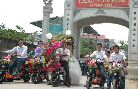 Hà Nội: Thú vị đám rước dâu bằng... xe đạp 7