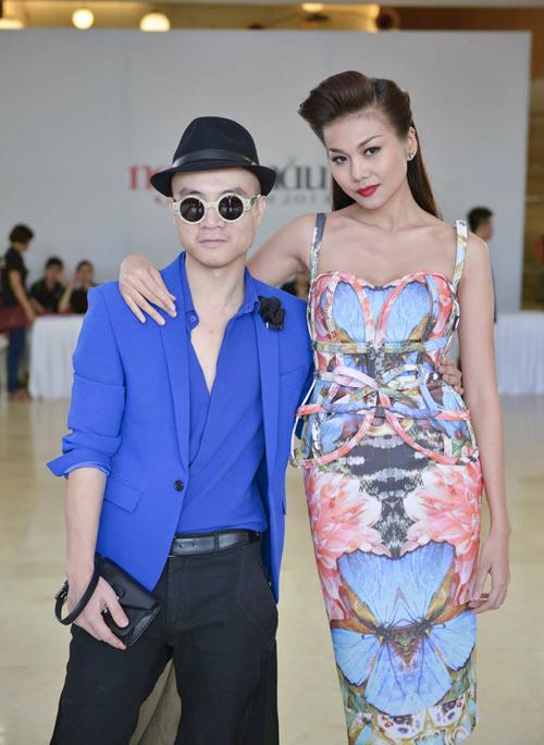 Thanh Hằng diện váy 3D đi chấm casting 9