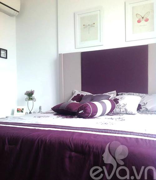Ngắm căn hộ 80m² màu tím kiêu sa 14