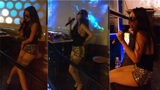 Lộ thêm ảnh Phương Trinh quằn quại, uốn éo trong quán bar 6