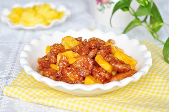 Chua ngọt dễ ăn món thịt heo xào dứa 7