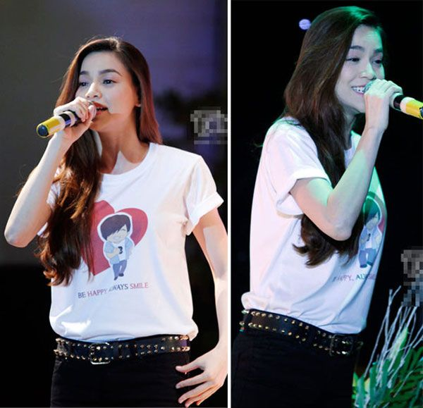 """5 """"nữ hoàng áo phông"""" của showbiz Việt 1"""