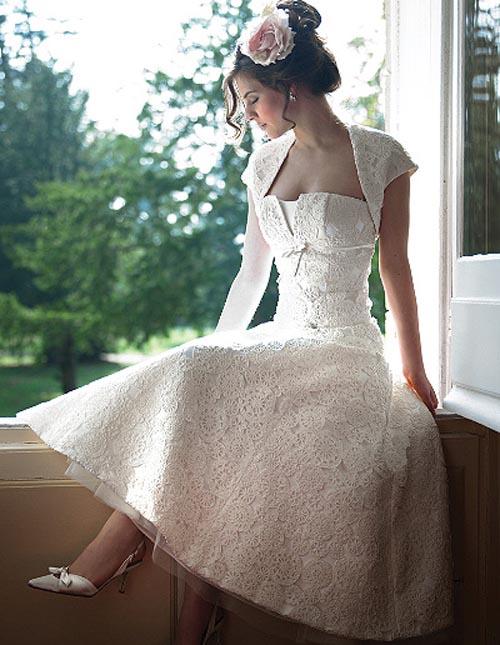 """10 váy cưới vintage """"trong mơ"""" cho cô dâu mùa thu 9"""