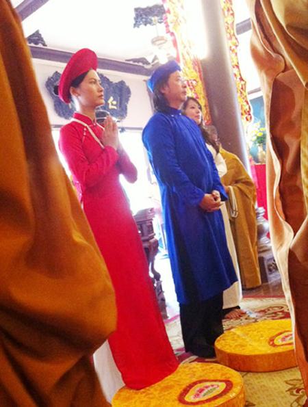 Sao Việt làm đám cưới nơi cửa Phật 2
