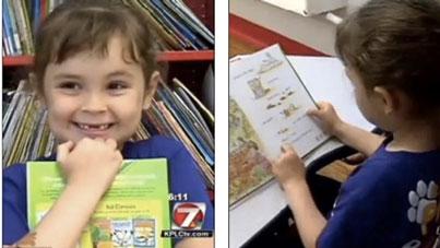 Bé gái 5 tuổi đọc hết 875 cuốn sách trong 1 năm 2