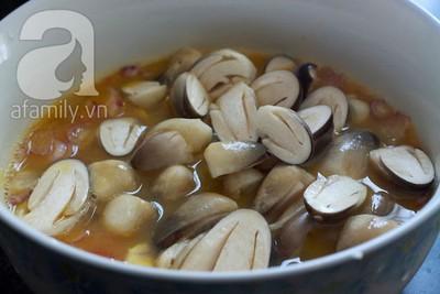 Lạ miệng ngon cơm với nấm hấp trứng muối 8