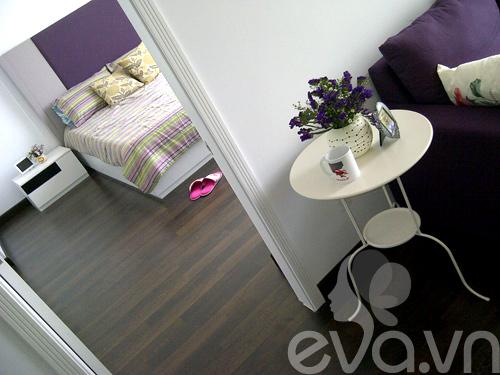 Ngắm căn hộ 80m² màu tím kiêu sa 17