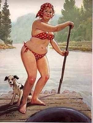 """Cư dân mạng thích thú với bộ tranh vẽ nàng béo """"sexy"""" Hilda 5"""