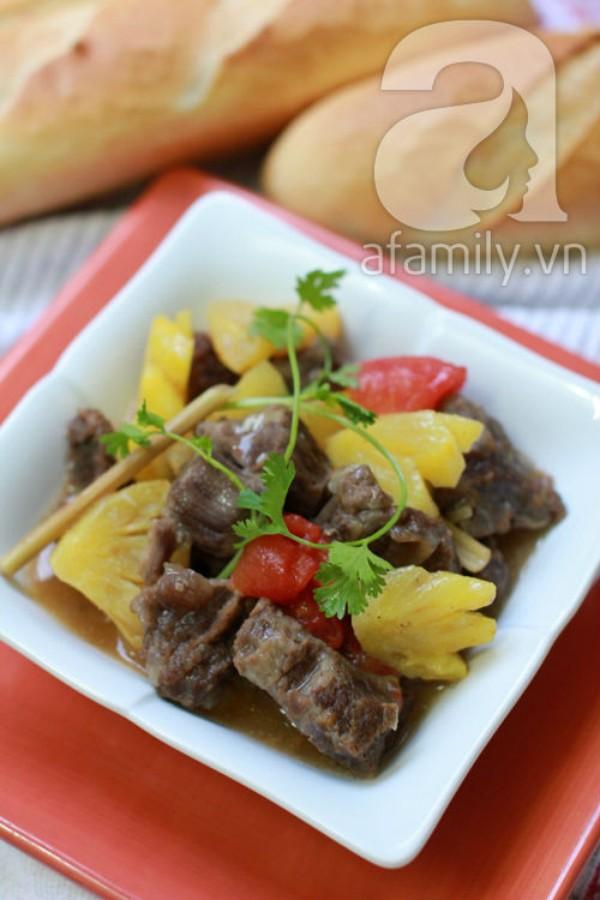 Bò kho dứa chua ngọt mềm thơm 1