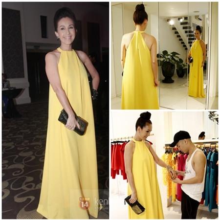 Sao Việt quyến rũ với váy suông 1