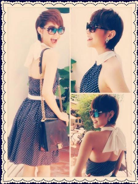 Ngắm phong cách thời trang ngọt ngào của Minh Hằng 9