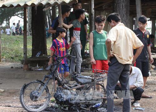 Hình ảnh thiệt hại vụ nổ kho thuốc pháo ở Phú Thọ 4