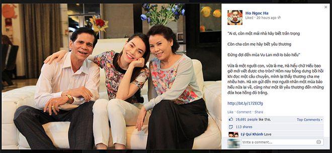 Sao Việt chia sẻ tình cảm với ba mẹ ngày Vu Lan 1