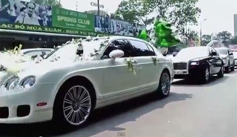 Siêu xe Rolls-Royce, Bentley dài cả phố rước dâu hotgirl 9