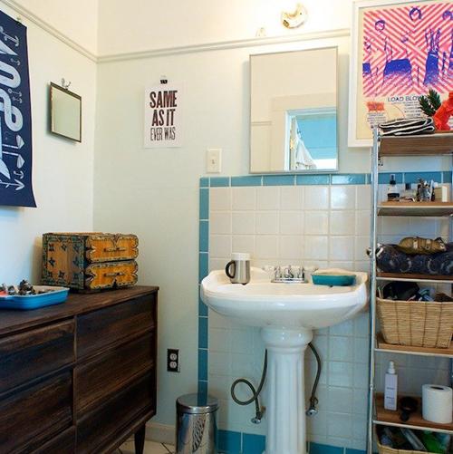 Làm mới phòng tắm với trang trí đơn giản 7