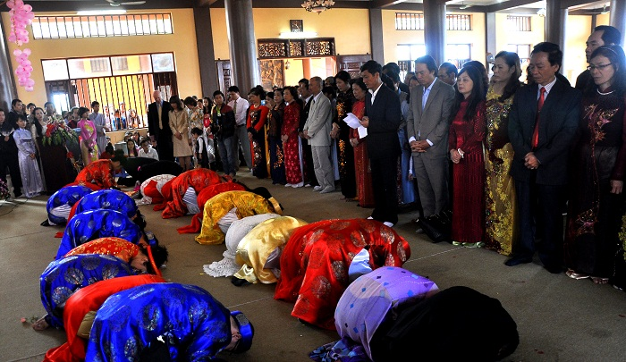 Hà Nội: Kết hôn tập thể theo nghi thức Phật giáo cho 14 đôi tân duyên 10