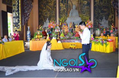 Lễ cưới theo nghi thức Phật giáo của ca sỹ Mỹ Dung 10