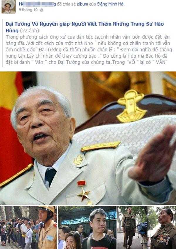 Nghệ sĩ Việt cảm động chia sẻ ảnh và kỷ niệm bên Đại tướng 14