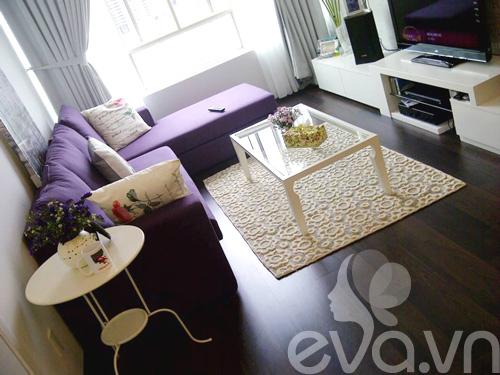Ngắm căn hộ 80m² màu tím kiêu sa 2