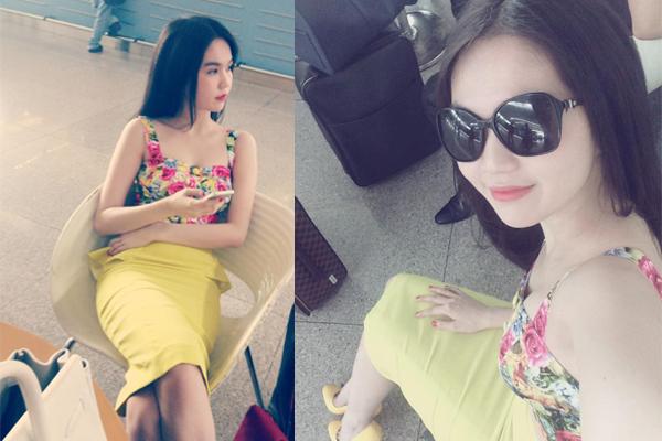 Hút mắt với thời trang sân bay của Ngọc Trinh 3