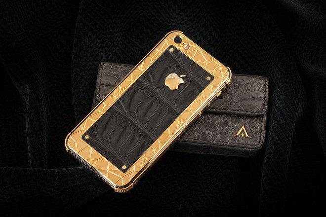 iPhone 5S mạ vàng bọc da cá sấu giá 35 triệu ở VN 8