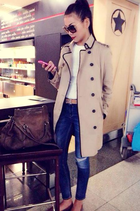 Thanh Hằng mặc jeans sành điệu 3