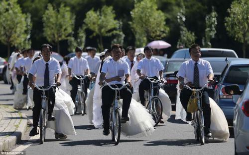 Độc đáo 16 cặp đôi tổ chức đón dâu bằng xe đạp 3