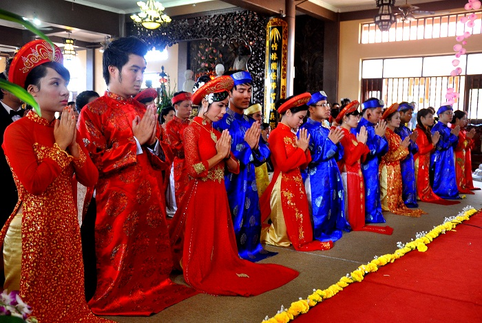 Hà Nội: Kết hôn tập thể theo nghi thức Phật giáo cho 14 đôi tân duyên 3