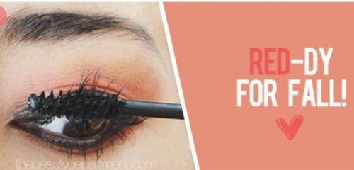 Trang điểm mắt cuốn hút với tông màu đỏ 5