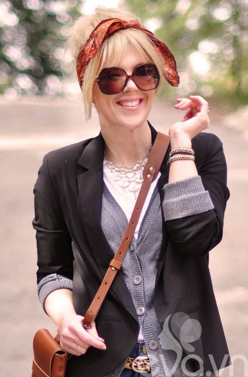 Tóc cực sành điệu với khăn Turban 10