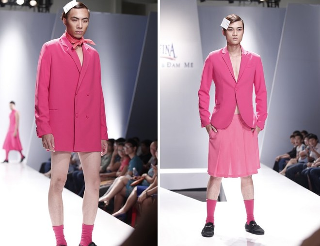 Khi người mẫu nam chuộng áo ren mỏng, váy xòe 4