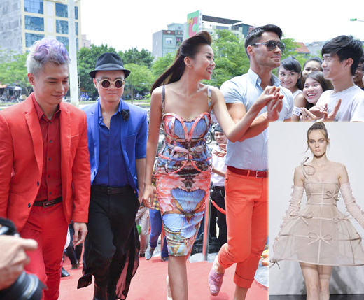 Thanh Hằng diện váy 3D đi chấm casting 3