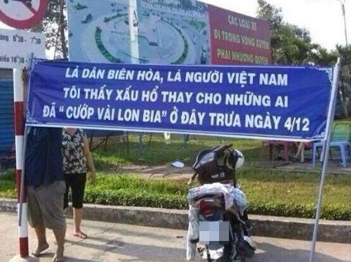 Dậy sóng vì băng rôn xin lỗi vụ hôi bia ở Đồng Nai 1