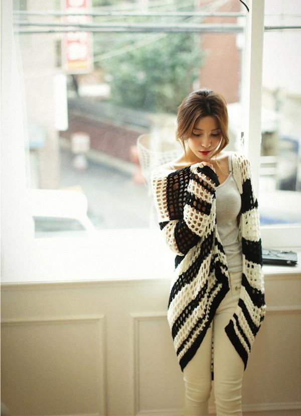 Mặc cardigan dáng dài phong cách, đủ ấm cho ngày se lạnh 5