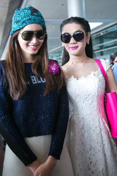 Lâm Chi Khanh đón Hoa hậu chuyển giới Thái Lan ở sân bay Tân Sơn Nhất 5