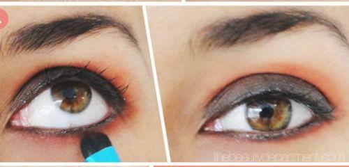 Trang điểm mắt cuốn hút với tông màu đỏ 4