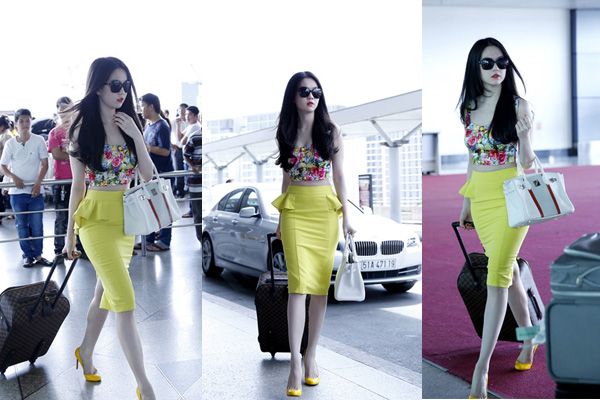 Hút mắt với thời trang sân bay của Ngọc Trinh 2