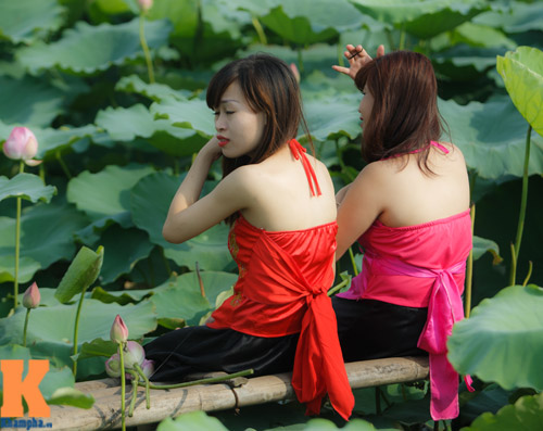 Hà Nội: Lên bà ngoại vẫn mặc yếm chụp ảnh sen 8