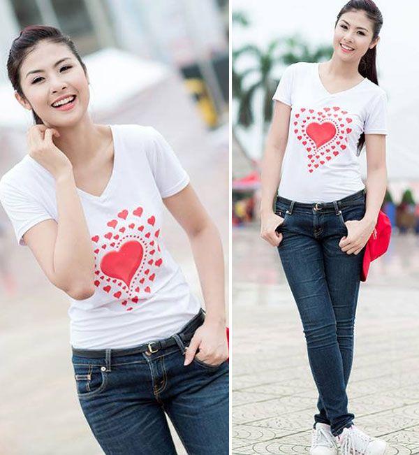 """5 """"nữ hoàng áo phông"""" của showbiz Việt 18"""