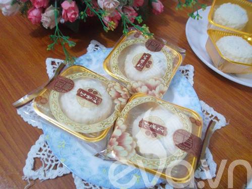 Tập làm bánh dẻo nhân đậu đỏ hạt sen 10